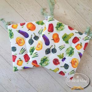 Cuscino per sedia verdure di stagione