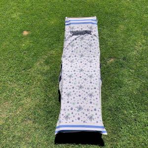 Telo mare per lettino blu