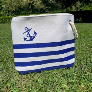 Pochette nautica blu