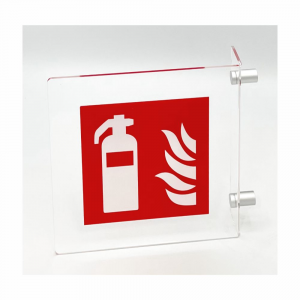 Cartello in plexiglass Plexline Bifacciale estintore UNI EN ISO 7010