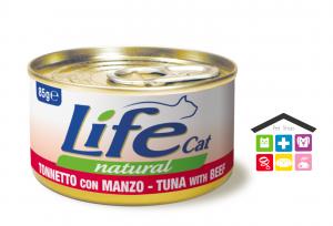 Life gatto tonnetto con manzo 0,85g