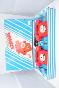Game Vintage Pair Telefoni Intercomunicanti Red Vipa Made In Italy (from Testare)