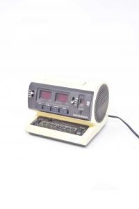 Radio Sveglia Vintage Anni 70 Grundig Funzionante Color Nera E Crema