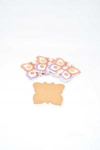 Set 4 Coasters Thun Butterfly 11x11 Cm Orange Purple