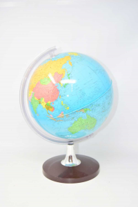 Globe Vintage Plastic With Base Round Brown 38 Cm Height