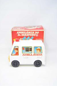 Gioco Vintage Ambulancia Do Dr Saratudo Con Scatola Completo - Made In Brazil