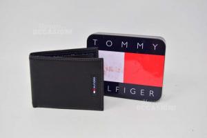 Portafoglio Uomo Tommy Hilfiger 11x8.5 Cm Nuovo Con Scatola In Latta