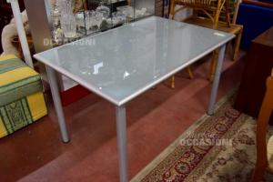 Table Chrome With Glass 78x118 Cm,h 53 Cm