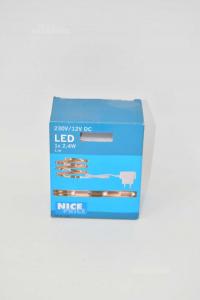 Set 3327 Kit Complete Strip Led With Spina 12 V 1 M White Neutro New