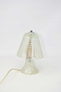 Abajour In Vetro Vintage Funzionante 20 cm