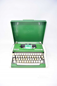 Typewriter Vintage Olympia Traveler De Luxand S Green