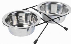Set ciotole acciaio inox per cane Trixie