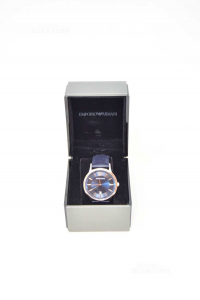 Watch Man Emporio Armani Ar2506 (defect Glass Striked) With Box