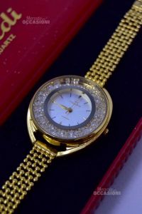 Watch Woman Vivaldi Quartz A4356l Golden With Crystals With Box