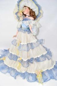 Porcelain Doll Original Of Belgio Nome: Bellamarina 50 Cm