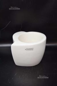 Plant Pot White Tiziano Shape Of Heart H 14 Cm