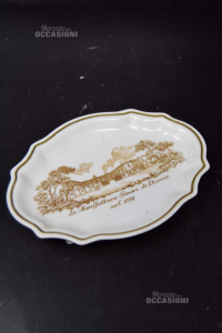 Small Plate Clear Pockets Ceramic Depicting