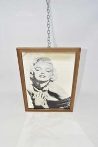 Quadro Specchio Marylin Monroe 22.5x33 Cm
