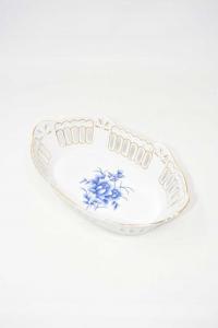 Cestino Ceramica Venetian Lagoon Porcellana 24x14.5x7 Cm