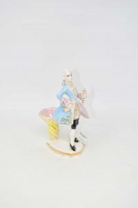 Statuetta Uomo Nobile In Ceramica Le Quercie H 18cm