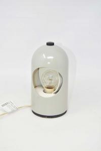 Lampada Da Tavolo Vintage Abm Modello Selene Made In Italy Grigia Smaltata Funzionante
