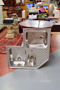 Steel Faecet Franke Angular 3 Vasche And Half