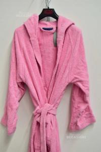 Bathrobe Caleffi In Sponge Pink Size.m-l New