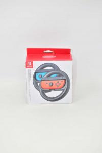 Nintendo Switch Joy-Con Coppia Volanti Ideali per Mario Kart e Giochi di Corse