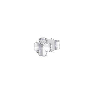 Orecchino mono a lobo Rosato in argento 925 quadrifoglio con zirconi RZO051R