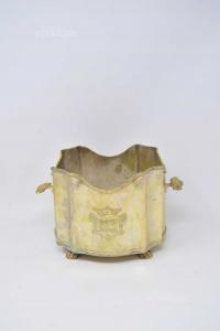Vaso Per Piante Jordan Sheffield Collection In Ottone Argentato 20x15 Cm