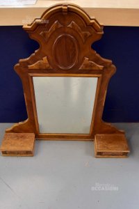 Wooden Mirror Chestnut With Cassettini First 900 Sizes H 110 L 105 Cm