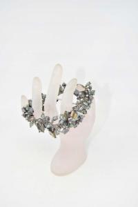 Braccialetto Perline Grigie E Madreperla 20 Cm
