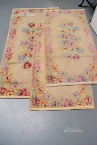 Tris Carpets From Room In Wool Floral 2 + 1 Piece