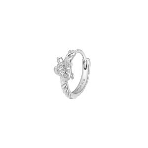 Orecchino mono cerchietto Rosato in argento 925 con tartaruga RZO055R