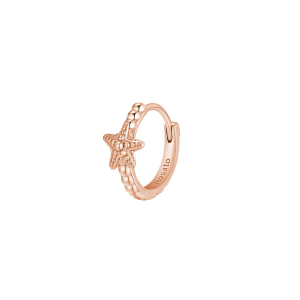 Orecchino mono cerchietto Rosato in argento 925 rosè con stella RZO056