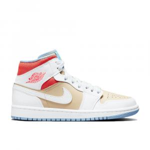 Air Jordan 1 SE Sesame Mid Sneakers