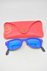 Occhiali Da Sole Rayban Specchiati Azzurri Wayfarer Rb4105 6020/17 50-22 3n