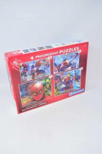 4 Puzzle Spiderman Clementoni