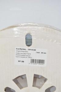 Sock Trecciata Pa6.6 Gray 40 Mm - Meters 50 New