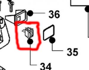 MAXICLEAN - SYNCLEAN Interruttore Bipolare con protezione valido per MX10, MXL10, MX27, MX59, MX60, MX400 cod: 2506230 12-659