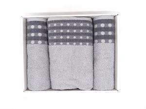 Asciugamano cotone grigio confezione regalo 5 pezzi