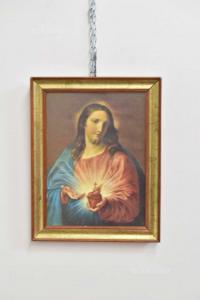 Quadro Stampa Immagine Gesù Incorniciato 38x48 Cm