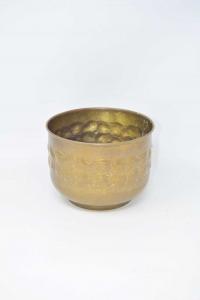 Brass Undervase Hand-beaten 18.5x14 Cm