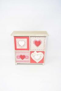 Cabinet Jewlery Box Style Tyrolean 4 Drawers 24x24x10 Cm