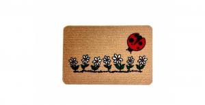 Zerbino tappeto fuoriporta 40x60 fiori e coccinella