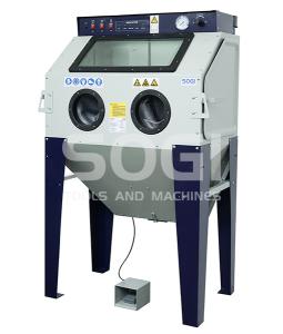 Sabbiatrice SOGI S-100 cabina di sabbiatura pallinatrice professionale con aspiratore