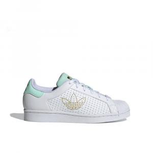 Adidas Superstar Bianco/azzurro/Gold da Donna