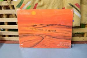 Quadro Deserto Con Cammelli Arancione 59x78 Cm