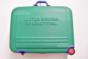 Valigia Rigida Undercolors Of Benetton Verde Giallo Blu Rosso 48x68x25 Cm