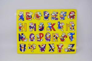 Gioco Alfabeto In Legno 30 X 40 Cm